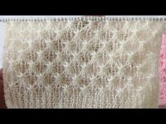 Lace Knitting Patterns, Knitting Stiches, Cable Knitting, Knitting Videos, Crochet Videos, Easy Knitting, Knitting Designs, Crochet Stitches, Stitch Patterns