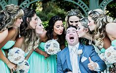 Bridesmaids- don't forget to give the groom a good luck kiss!