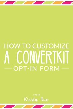 A common complaint is that ConvertKit opt-in forms aren't visually appealing. So today I'm here to help you out with a video and step-by-step…