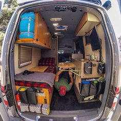 Who's your #VanCrush ???? If you care to share tag them below. @vanlifetravelogue is one of my many crushes. I think it's all the storage pockets that I really love! https://www.instagram.com/p/BQtcYF9jVJ4/