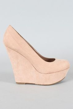 Nude wedge $25.90, looks like my Nude wedge from new look =) I'm thinking these would be easier to walk in grass than heels!