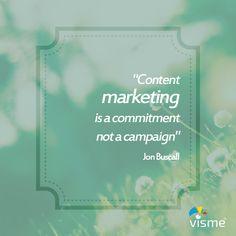 Interesting @jonbuscall #Quote on #ContentMarketing