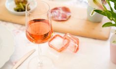 Bring out the pinks when you serve Rose wine. For modern luxury, serve it in an iittala Essence glass from fitzsu.com