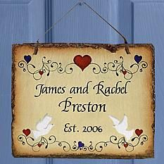 Anniversary gifts - Buy wedding anniversary gifts online in India at best price. Get anniversary gift ideas and send romantic marriage anniversary gifts from GiftaLove. Slate Wedding, Wedding Wall, Rustic Wedding, Wedding Plaques, Garden Gifts, Personalized Wedding Gifts, Love And Marriage, Lower Case Letters, Decor Crafts