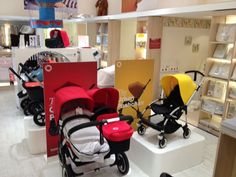 Kids Seating, Store Displays, Baby Store, Display Design, Baby Boutique, Showroom, Baby Car Seats, Baby Strollers, Children