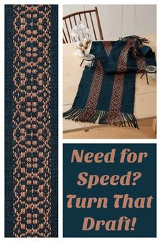 Why does Deb Essen love turning overshot drafts warp-wise? Get her thoughts in this article, and learn more about weaving this gorgeous runner!