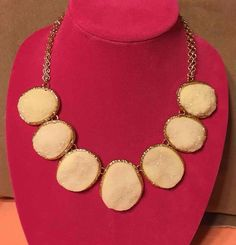 MACY'S STYLE & CO. Cream + Gold-Tone Chunky Chain Statement Necklace NWT $38MSRP #StyleCo #Statement