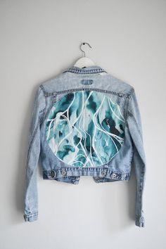 Artist's Jean Jacket - Vintage Jacket - Jean Jacket - Customized Jacket - Art on Clothes