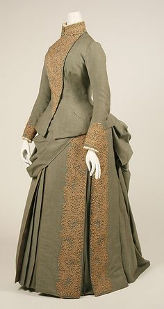 Wedding ensemble Designer: Herman Rossberg (American, active 1880s) Date: 1887 Culture: American Medium: wool Louise Whitfield wore this for her wedding to Andrew Carnegie
