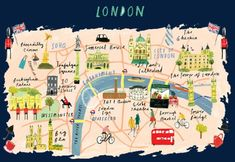 carte de londres de dessins anims londres voyage attraction image png