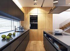 Modern Kitchen Design, Kitchen Interior, Kitchen Cabinets, Architecture, House, Home Decor, Kitchens, Kitchen, Arquitetura