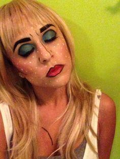 Halloween makeup, comic book, makeup by @penelopevazquez