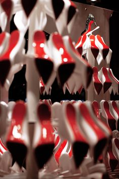 The fantastic Christian Louboutin's Christmas Tree window displays are work of StudioXAG creatives, who bring the joy of Christmas season with shoe maker's legendary red sole on display.