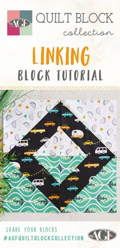 Taco Tuesday Everyday- How to Make a Linking Block with Day Trip Fabrics