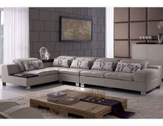 3-Piece Genuine Leather Sectional Sofa - ME-WQ6803