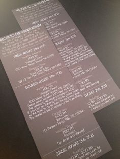 Wedding Welcome Letters / Itineraries van modernsoiree op Etsy, $2.50