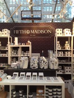Shop 5th and Madison's luxurious line of soy-based candles, flameless aromatics, and bath and body products at kiosk B02.