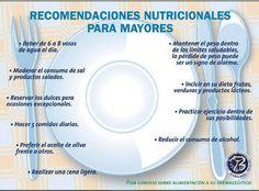 Recomendaciones nutricionales para mayores #nutrición #alimentación #salud #vidasaludable