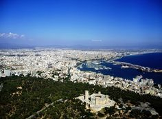 Castello Bellver & Palma city by helicopter  / On the way to Porto Cristo we drive around Palma.