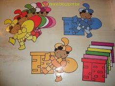 Sorteerspel: Welk speelgoed moet in welke schoorsteen? 10 verschillende soorten motiefjes (de afbeeldingen van de schoorstenen worden op ...