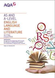 aqa as english language and literature coursework Scheme of assessment taken at the end of the course in english language and literature must encourage students to.