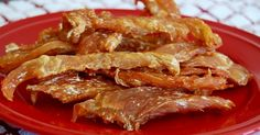 When I gave this healthy chicken jerky recipe for dogs to my pups for the first time, they gobbled it right up. Your dogs will love this healthy recipe too!