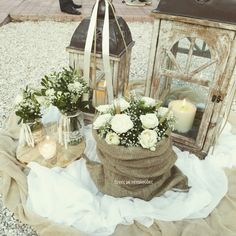Church Wedding Decorations, Wedding Lanterns, Flower Decorations, Diy Wedding, Rustic Wedding, Wedding Flowers, Lantern Centerpieces, Wedding Centerpieces, Country Chic Party