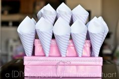 a {day} with lil mama stuart: DIY Popcorn Cones Tutorial