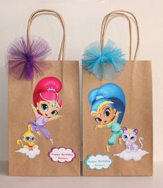 Shimmer And Shine Party Favor Bags by CelebrationGoods on Etsy