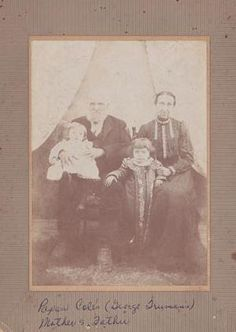 Andrew Briscoe Cole and wife Mary Jane Hickcox with Lena and Claude  Mary Jane is My 2nd great grand aunt  Birth 13 Apr 1842 in Pisgah, Cooper, Missouri, United States  Death 29 Apr 1917 in Prairie Home, Cooper, Missouri, United States