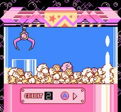 Recreation of the claw machine from Kirby's Adventure