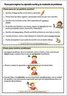 Pasos para mejorar la expresión escrita y las resolución de problemas