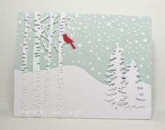 Laurie's Stampin Place: Snowy hillside