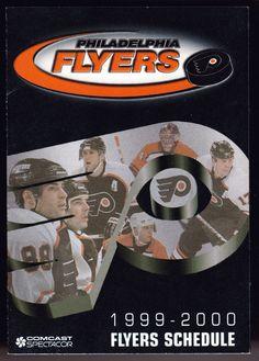 1999-00 PHILADELPHIA FLYERS BUD LIGHT HOCKEY POCKET SCHEDULE FREE SHIPPING #PocketSchedules