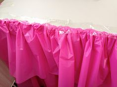 A DIY Barbie birthday party with lots of pink decor. Easy ruffled tablecloth, DIY Barbie favors, a wall mounted TV cover, cupcake stand and more. Barbie Birthday Party, Kids Birthday Themes, Barbie Party, Birthday Parties, Barbie Theme, Pink Barbie, Fairy Birthday, 9th Birthday, Ruffled Tablecloth