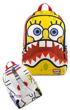 8bd4cbc52e Spongebob Squarepants backpack Novelty Bags