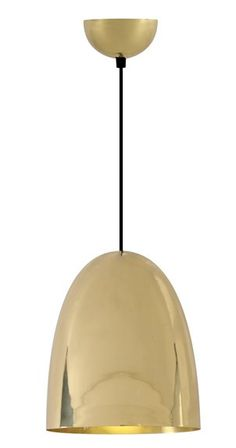The Cooper Pendant Smooth Brass - £330.00 - Hicks and Hicks