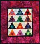 Triangles in Trigangles Miniature Quilt  in Minutes Quilt Projects...download a pdf instruciton guide.