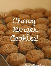 Julie Bakes: Chewy ginger cookies