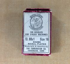 Excelsior Torrington sewing machine needles size by LostCreekGoods