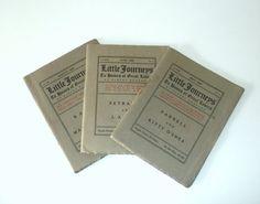 1906, Little Journeys Books by Elbert Hubbard by RescuedInTime, $34.00