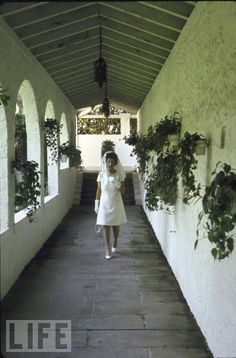 Rose Kennedy at the Kennedy family's Home in Palm Beach