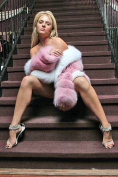 With fur Hot boots girls white naked
