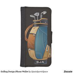 Golfing Design iPhone Wallet
