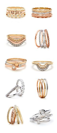 Anna Sheffield Wedding and Everyday Rings   100 Layer Cake