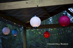 i want a patio just so i can have these lights!