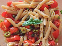 La cucina delle streghe: Pasta fredda con pachino, capperi e olive