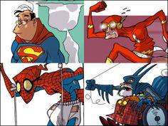 漫画家が描くスーパーヒーローたちの老後 - GIGAZINE