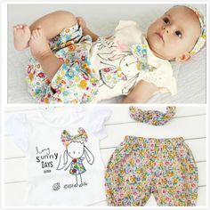 Os modelos explosão meninas voar manga calções T + + + cachecol bebê floral define 2014 mais novo vestido de bebê bonito do bebé em Conjunti...