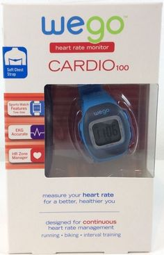 WeGo CARDIO 100 Heart Rate Monitor Sports Watch EKG Accurate HR Zone Manager #WEGO